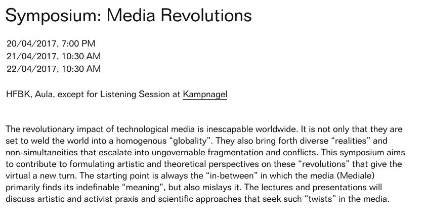 Symposium: Media Revolutions