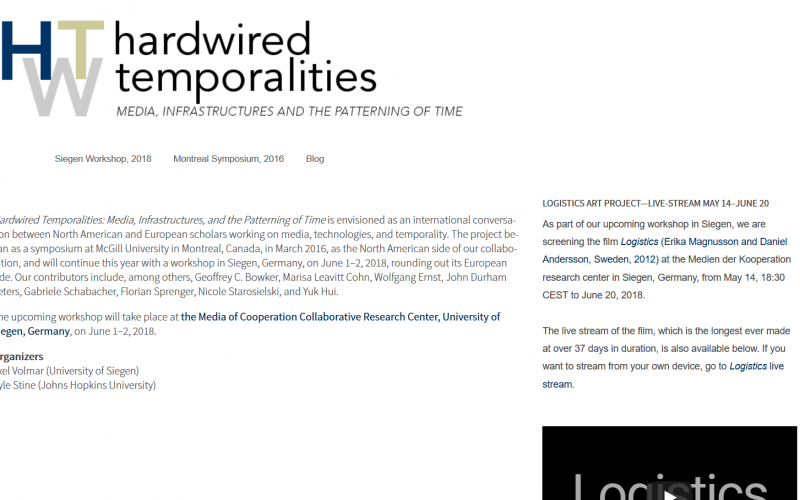 Event: Hardwired Temporalities: Media, Infrastructures, and the Patterning of Time