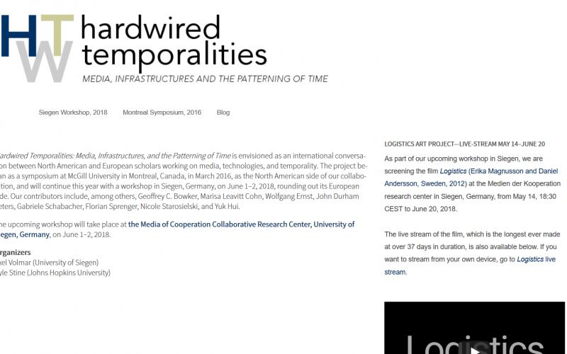 活动: Hardwired Temporalities: Media, Infrastructures, and the Patterning of Time